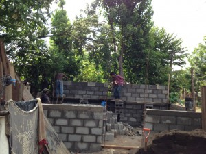 Laying the Back wall